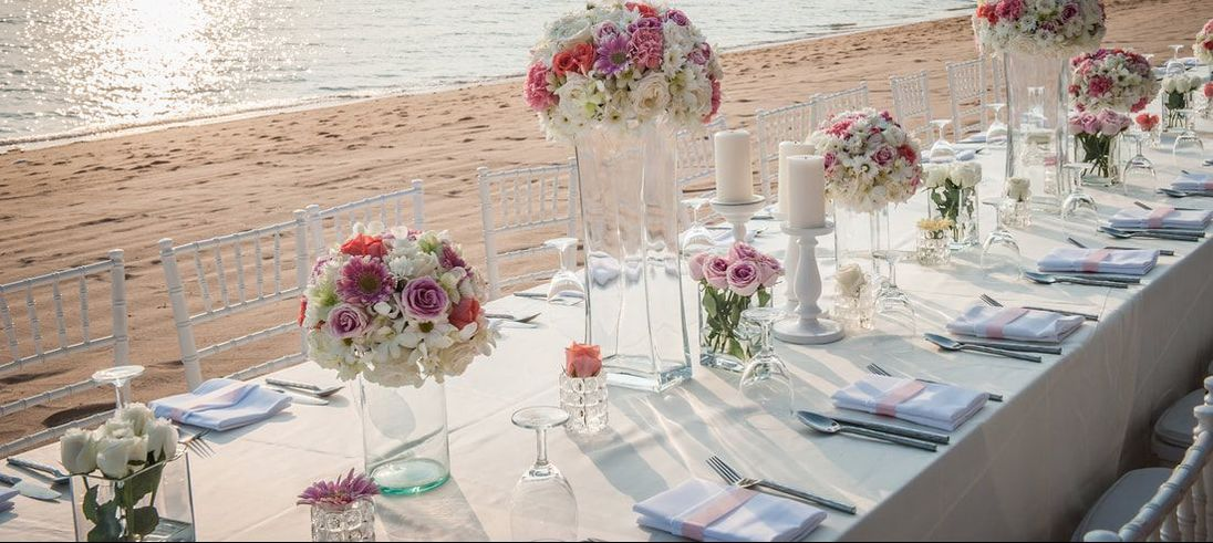 Wedding feast on the beach